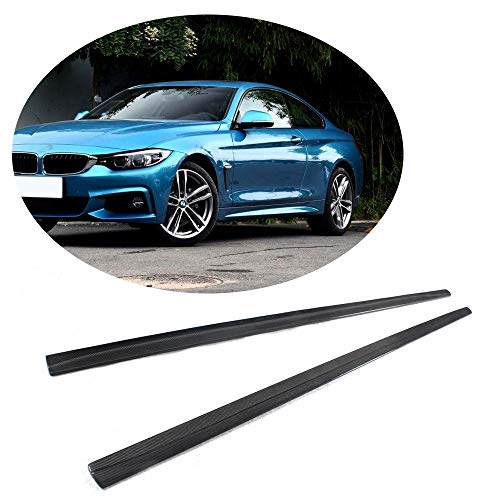 (MCARCAR KIT Side Skirts fits BMW 4 Series F32 F33 F36 M Sport 2Door 4Door 2014-2018 Add-on 418i 420i 428i 435i 440i M-Packet Carbon Fiber CF Under Door Rocker Panels Valance Extension Lip)