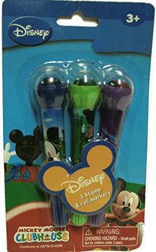 Mickey Mouse Club House 3 Stamp and Roll Markers -