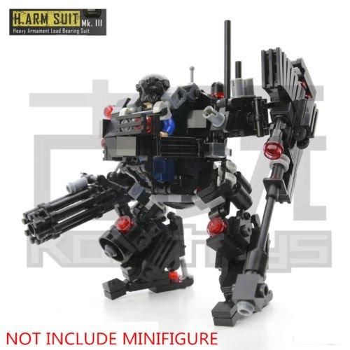 [L MOC 270pcs SWAT Heavy Robocop ARM SUIT MKIII Blocks Minifigures Gifts Toys] (Robocop Costume Build)