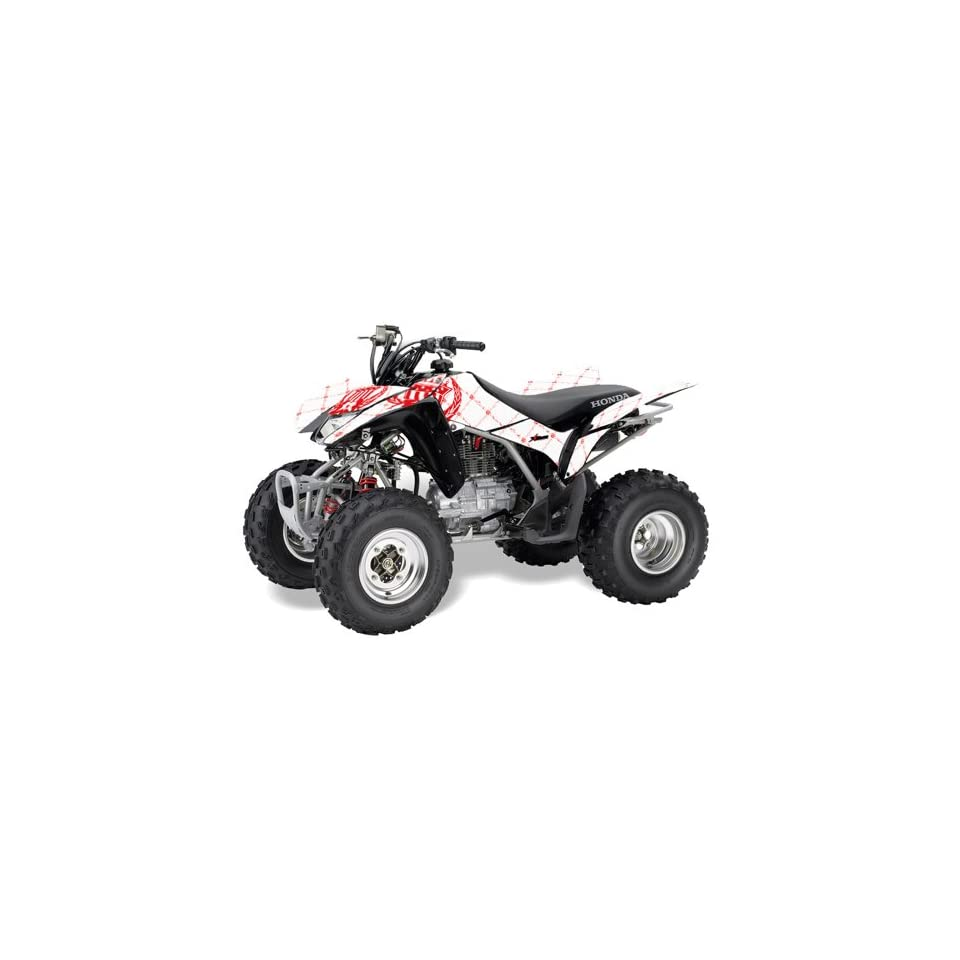 AMR Racing Honda TRX 250EX 250X ATV Quad Graphic Kit   Silver Star Reloaded Red & White 2005 2009