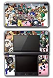 Super Smash Bros Brawl Melee Kirty Meta Knight Wario Sonic Mario Ice Climbers Marth Roy Pit Link Zelda Samus Video Game Vinyl Decal Skin Sticker Cover for Original Nintendo 3DS System