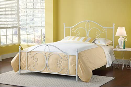 home, kitchen, furniture, bedroom furniture, beds, frames, bases,  beds 12 image Hillsdale Furniture Hillsdale Ruby Frame Queen Bed, White in USA