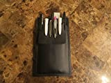 {1} Dark Brown Leather Pocket Protector