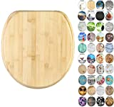 Sanilo Round Toilet Seat, Wide Choice of Slow Close Toilet Seats, Molded Wood, Strong Hinges (Bamboo)
