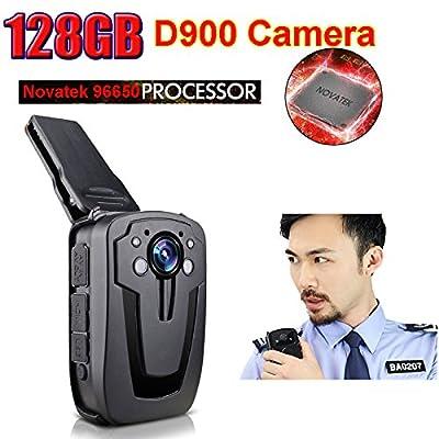 Blueskysea D900 HD1080P Police Body Worn Camera with Night Vision (128GB)