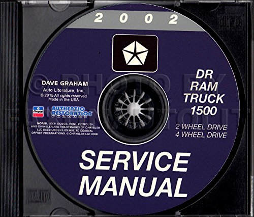 2002 DODGE 1500 RAM DW PICKUP TRUCK REPAIR SHOP & MAINTENANCE MANUAL including half ton, Sport, SLT, ST, 3.7L 4.7L 5.9L V6 V8. 2-wheel drive, four-wheel drive