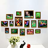 Home@Wall photo frame Photo Frame Sets,Living Room Photo Frame Wall Creative Combination Sofa Background Frames Sets Of 15 ( Color : E , Size : 15frames/13575CM )