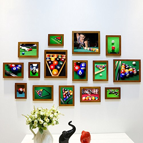 Home@Wall photo frame Photo Frame Sets,Living Room Photo Frame Wall Creative Combination Sofa Background Frames Sets Of 15 ( Color : E , Size : 15frames/13575CM ) by ZGP