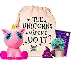 If you find it hard to concentrate, be creative and stress is getting the better of you, Jitter Glitter™  presents the ultimate Unicorn STRESS BUSTER kit! Your very own soft pink, jumbo unicorn squishy! Squishies are cute, sensitive creatures...