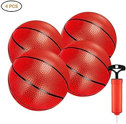 Surenhap 4 Pcs Balón de Baloncesto Pelotas Niños Juego ...