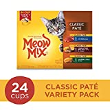 Meow Mix Classic Pate Wet Cat Food Variety Pack, 2.75-Ounce Cups (Pack Of 24)