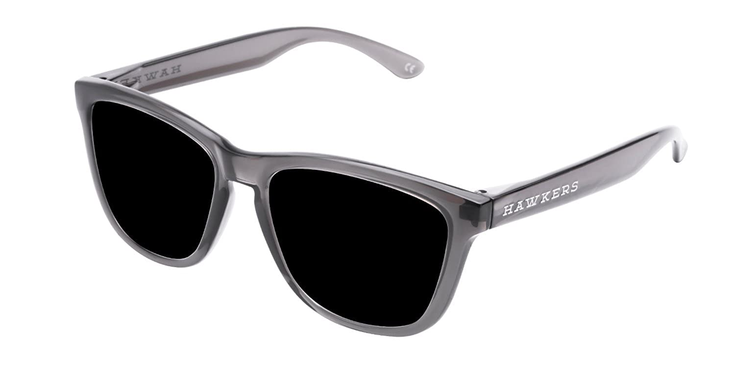 Hawkers Crystal Black Dark One, Gafas de Sol Unisex, Negro