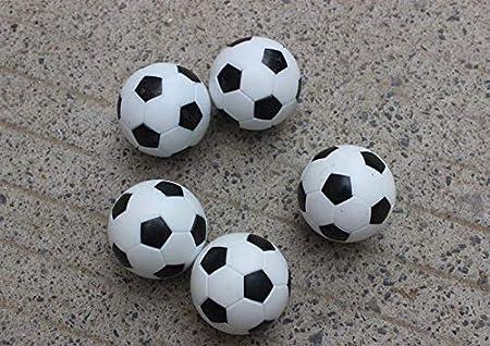 Zeagro 6pcs 32 mm de plástico de Mesa de fútbol Balón de futbolín Pelota de fútbol: Amazon.es: Hogar
