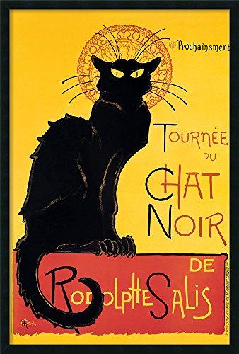(Framed Art Print, 'Tournee du Chat Noir (Yellow)' by Theophile Alexandre Steinlen: Outer Size 25 x 37