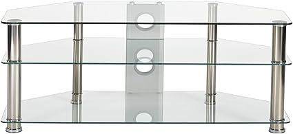 MMT - Soporte Universal de Cristal Transparente para televisor de ...