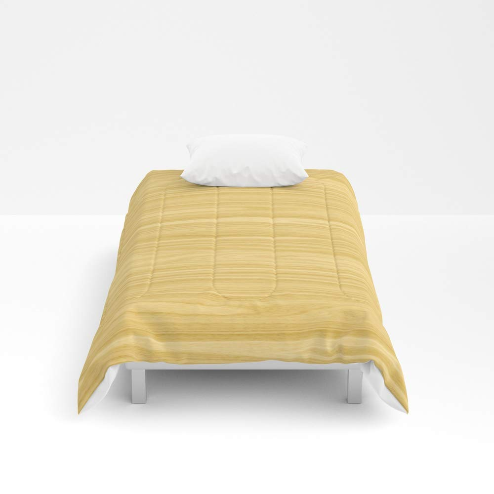 Society6 Comforter, Size Twin: 68'' x 88'', Ash Wood Texture by Textures