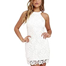 Froomer Womens Halter Lace Dresses For Special Occasions