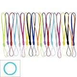 Pack of 20 Pcs Colorful Short Hand Grip Lanyard Strap String Bulk for USB Flash Drives, Keys, Keychains, ID Name Tag, Badge Holders, Selfie Stick, MP3 Player, Camera,Assorted Colors