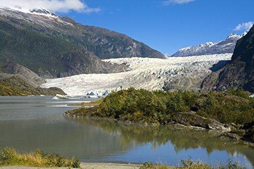 - Posterazzi View Of Mendenhall Glacier Near Juneau Southeast Alaska Summer Poster Print (17 x 11)