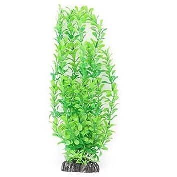 eDealMax acuario plástico del tanque Artificial Decoración hierba planta pesquera 34cm Altura Verde
