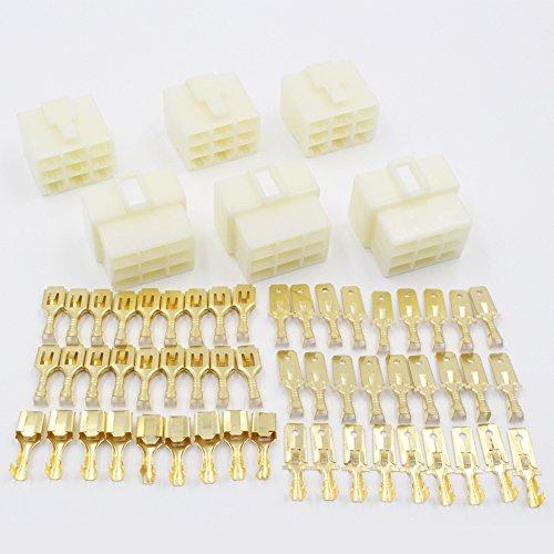 EMeskymall 3 Set 9Pin Way 6.3mm 1/4