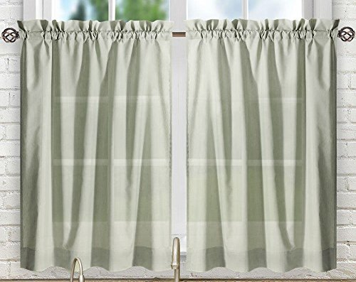 Ellis Curtain Stacey Tailored Tier Pair Curtains, 56