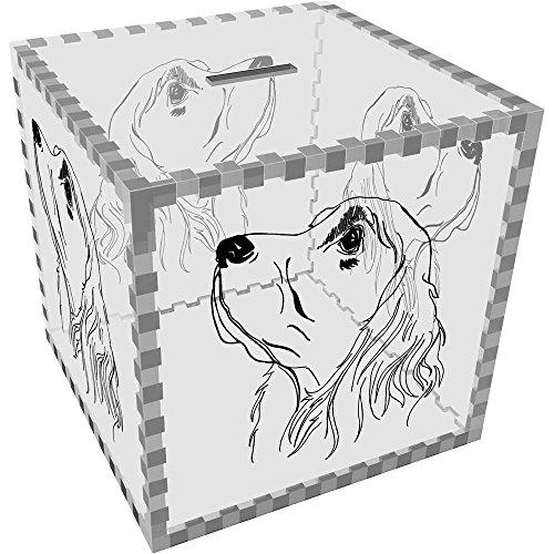 Azeeda Large 'Cocker Spaniel' Clear Money Box / Piggy Bank ()