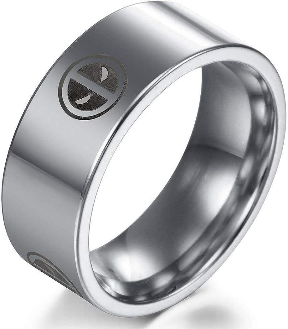 Sping Jewelry Anillo de Acero de Titanio para Hombre y Mujer Talla 6-13