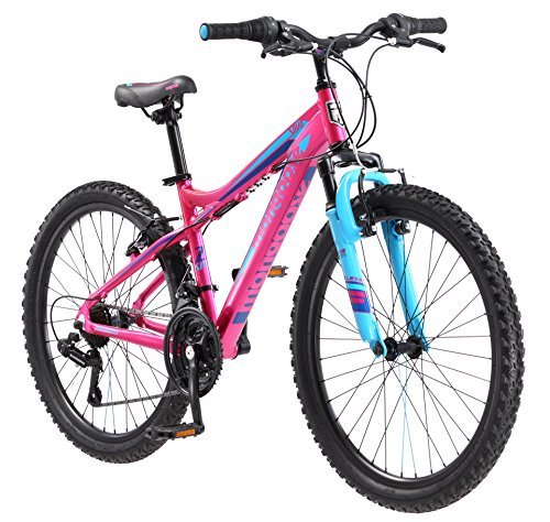 Mongoose Girls Silva Mountain Bicycle Pink 24'' Wheel 13''/Small Frame Size by Mongoose