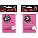 Ultra Pro 100 Bright Pink Pro-Matte Deck Protectors Sleeves Standard MTG Colors