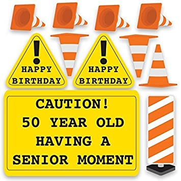 VictoryStore Yard Sign Outdoor Lawn Decorations QuotCaution 50 Year Old Having A Senior