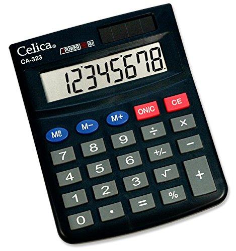 CELICA CA-323 Calculadora de Escritorio, 8 Dígitos con Tecla de Raíz Cuadrada, Memoria de 3 Teclas