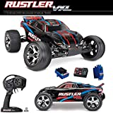 Traxxas 37076-4 Rustler VXL 2WD Brushless Stadium Truck - Red