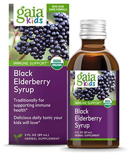 Gaia Herbs, Gaia Kids Black Elderberry Syrup, Delicious Daily Immune Support with Antioxidants, Organic Sambucus…