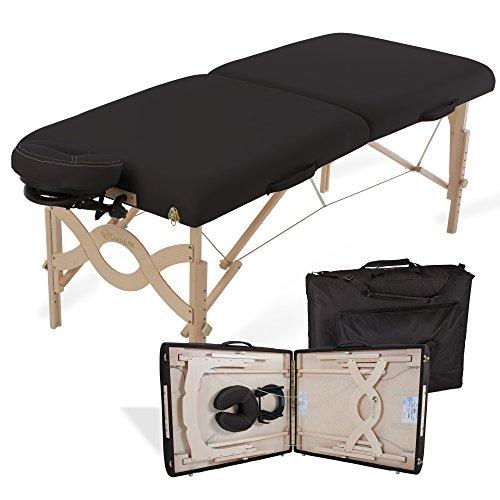EARTHLITE Portable Massage Table Package AVALON - Reiki Endplate, Premium Flex-Rest Face Cradle & Strata Cushion, Carry Case (30'x73')