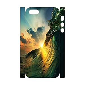Iphone 5,5S 3D Personalized Phone Back Case with ocean wave Image