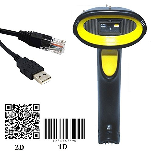 WER 2D Code Scanner Handheld QR Barcode Scanner Scanning Bar-code Reader with USB Cable for Codebar?Code11?Code39/Code93?UPC/EAN?Code128/EAN128?InterLeave2of5?MSI CODE,Standar2of5 by WER