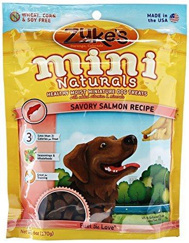 Zukes Mini Naturals Bite - Zuke's Mini Naturals Dog Treats, Savory Salmon Recipe, 6-Ounce by Zuke's