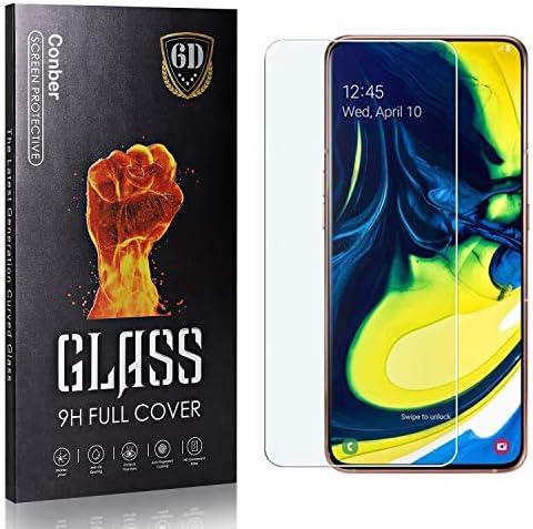 Conber Panzerglasfolie für Samsung Galaxy A90, [1 Stück] 9H gehärtes Glas, Kratzfest, Blasenfrei, Hülle Freundllich Hochwertiger Panzerglas Schutzfolie für Samsung Galaxy A90
