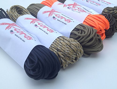 X cords Paracord 850 Lb Stronger Than 550 and 750 Made By Us Government Certified Contractor