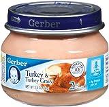 gerber baby food case of 8 - Gerber 2nd Foods Meats, Turkey & Turkey Gravy, 2.5-Ounce (Pack of 12)
