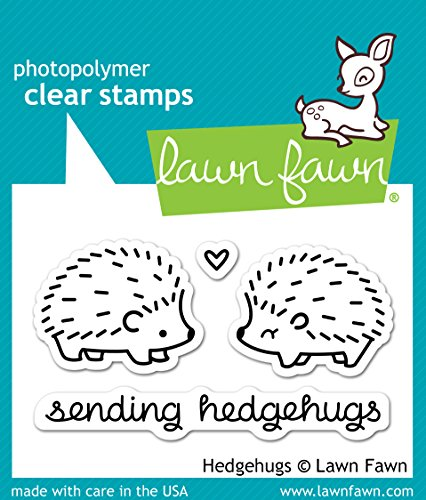 Lawn Fawn - Clear Acrylic Stamps - Hedgehugs (Fawn Acrylic Lawn Stamps)