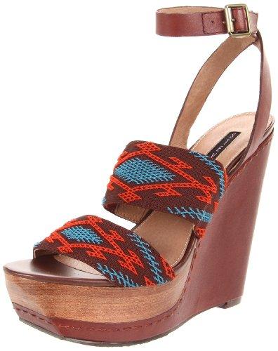 (Steven by Steve Madden Women's Bernidet Ankle-Strap Sandal,Multi Fabric,9.5 M US)