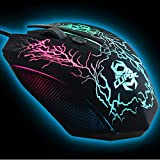 CLiPtec LIGHTNING 2400 Adjustable High DPI USB 2.0 Optical LED Light Illuminated Wired Gaming Mouse Mice For Laptop PC Computer Mac