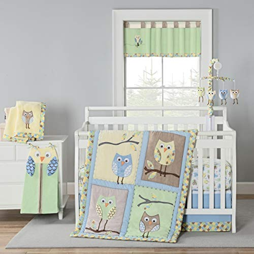 New Country Home 4987A 4 Piece Mod Owls Crib Bedding Set - 18 x 13 x 5.5 in. ()
