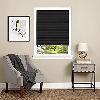 dark window shades diy achim home furnishings cordless 123 vinyl room darkening pleated window shade 48 amazoncom original blackout paper shade black 48 72