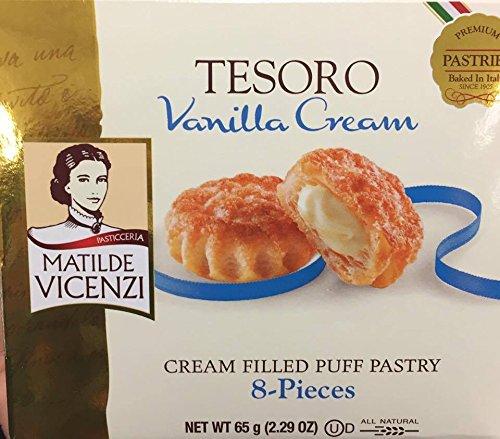 Matilde Vicenzi Tesoro Vainilla Crema Relleno Puff Pastry 2 ...