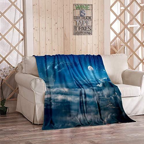 Warm Home Zachte Gezellige Draagbare Fuzzy Gooi Dekens voor Bed Sofa Fantasy Olieverfschilderij Zee Landschap Kunst Schip Zonsondergang Ruimte Sterren Planeten 40x50