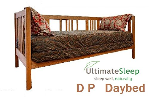 Natural Oak Daybed (The D P Daybed Solid Wood Day Bed Frame - Oak, Maple, Cherry or Walnut - in Twin, TwinXL, Full, Queen, King or Cal King Size, Made in USA (Walnut Wood, FullXL 54x80))
