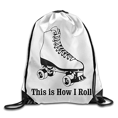 This Is How I Roll Roller Skates Nylon Drawstring Drawstring Bag For Girls And Boys by crystars